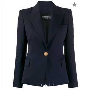 Balmain Single Breasted Tailored Blazer 38 Current